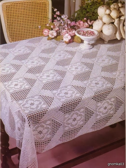 Crochet tablecloth - Manteles para mesa ...