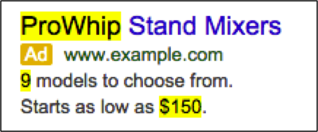 AdWords Ad Customizers