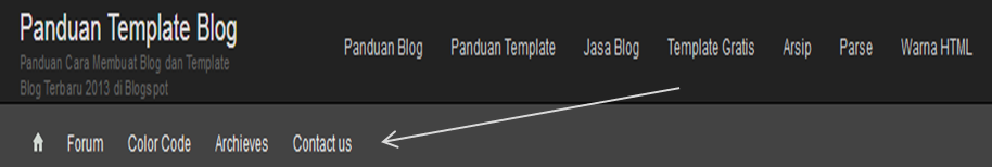Cara Membuat Menu Horizontal Blog Sederhana