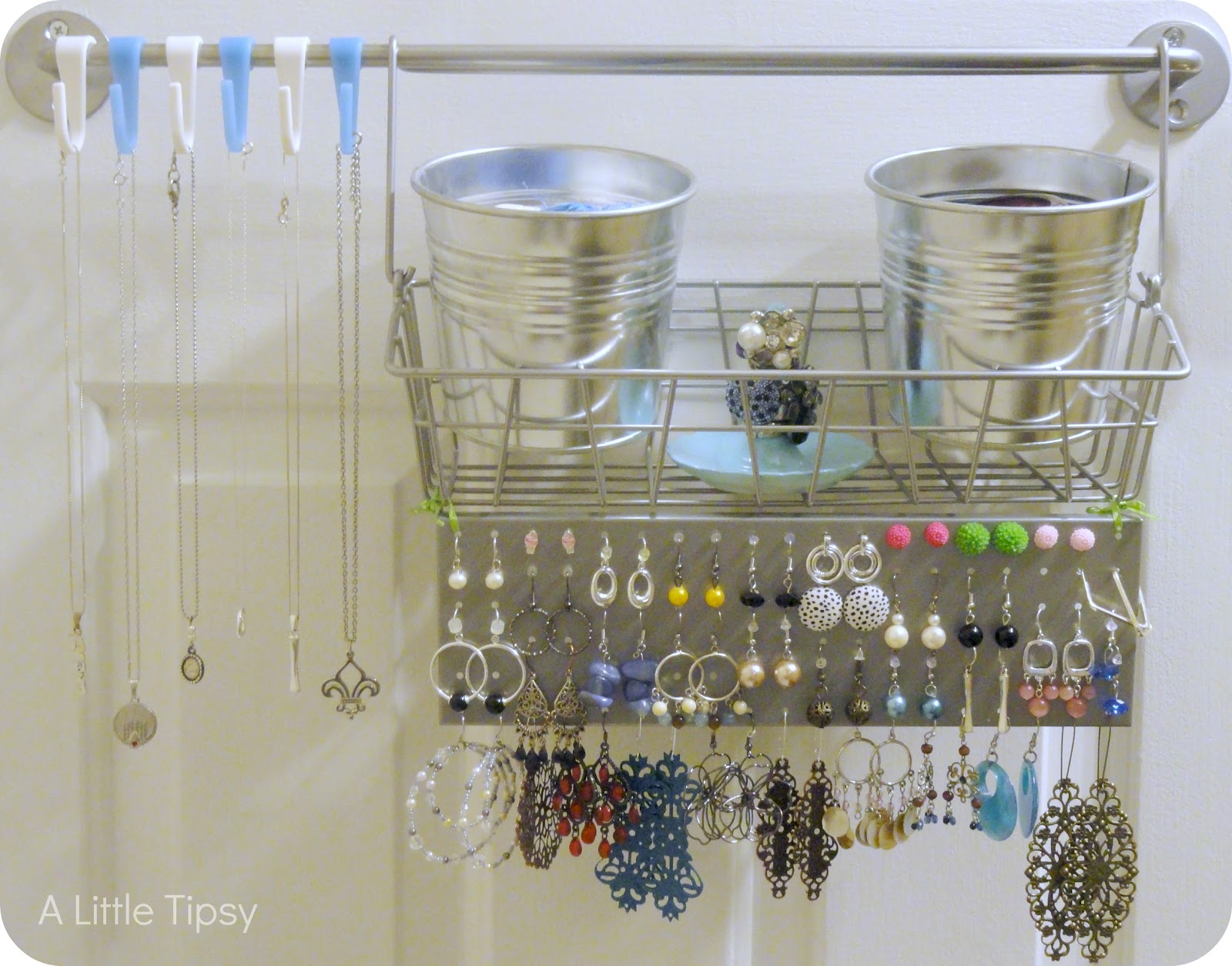 Jewelry Organizer Diy Diy Jewelry Organizer A Little Tipsy