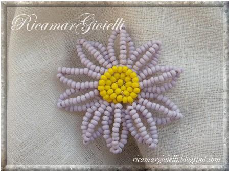 gerbera fiore di perline