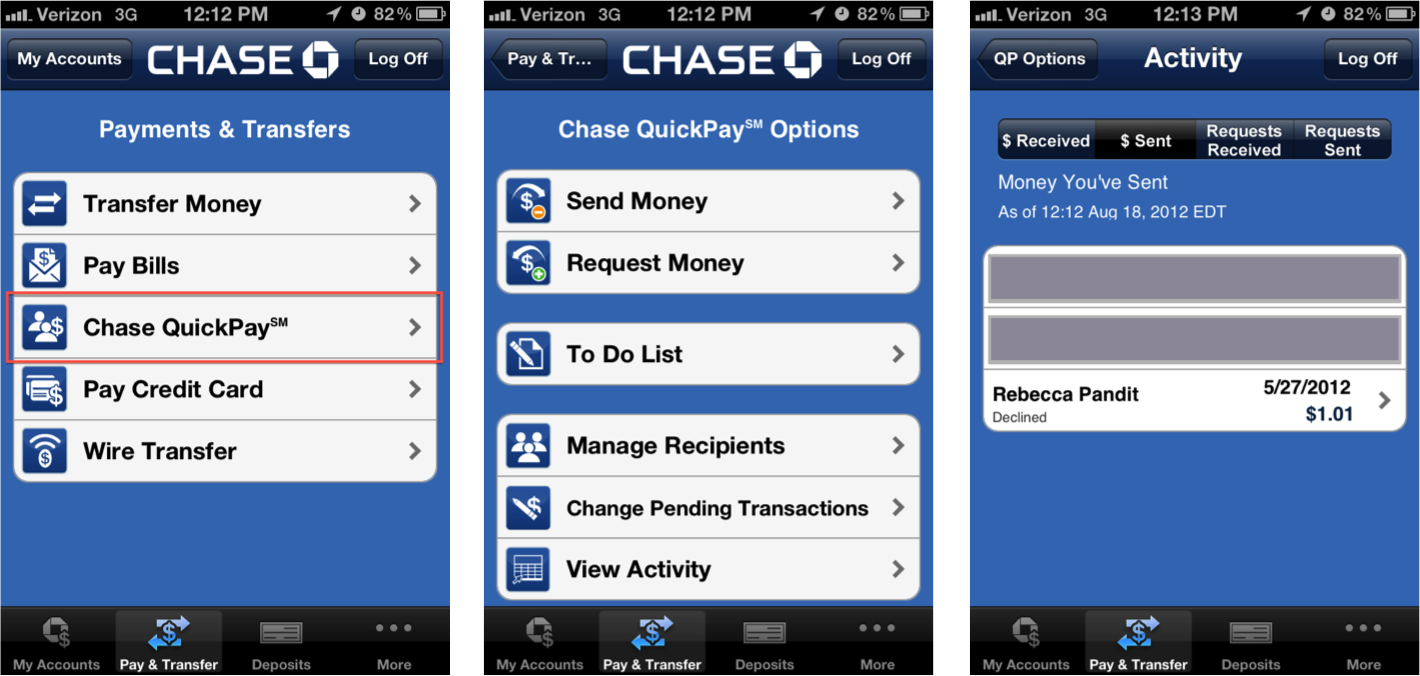 Hopefully As More People Use The Quickpay Service, Chase Will Dedicate More  Resources Towards Making