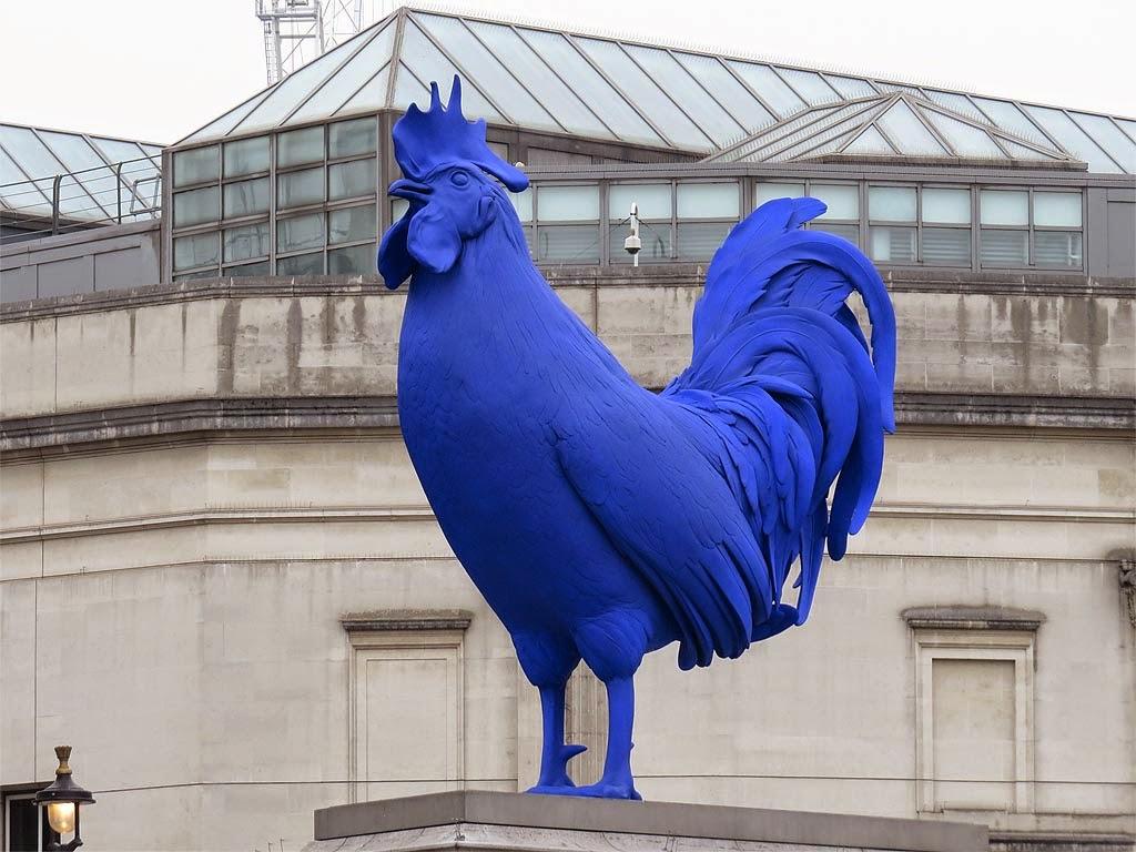 Hahn/Cock by Katharina Fritsch, Fourth Plinth, Trafalgar Square, London