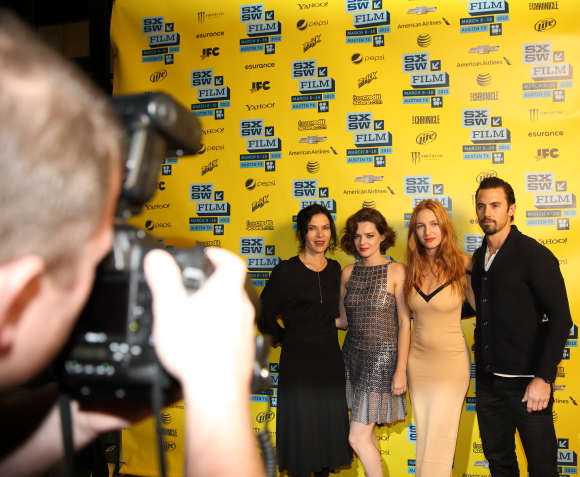 Kiss of the Damned cast being photographed