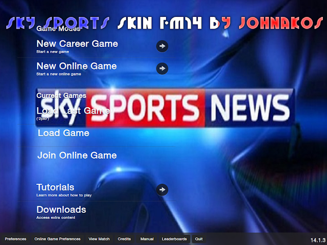 SKY SPORTS SKIN FOOTBALL MANAGER