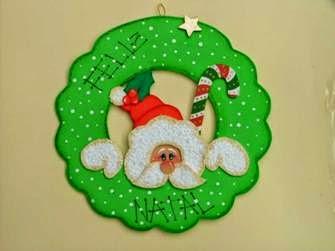 Guirlanda de Natal de EVA simples e facil de fazer