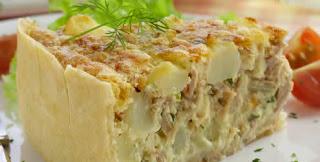 #receita de #torta de #atum