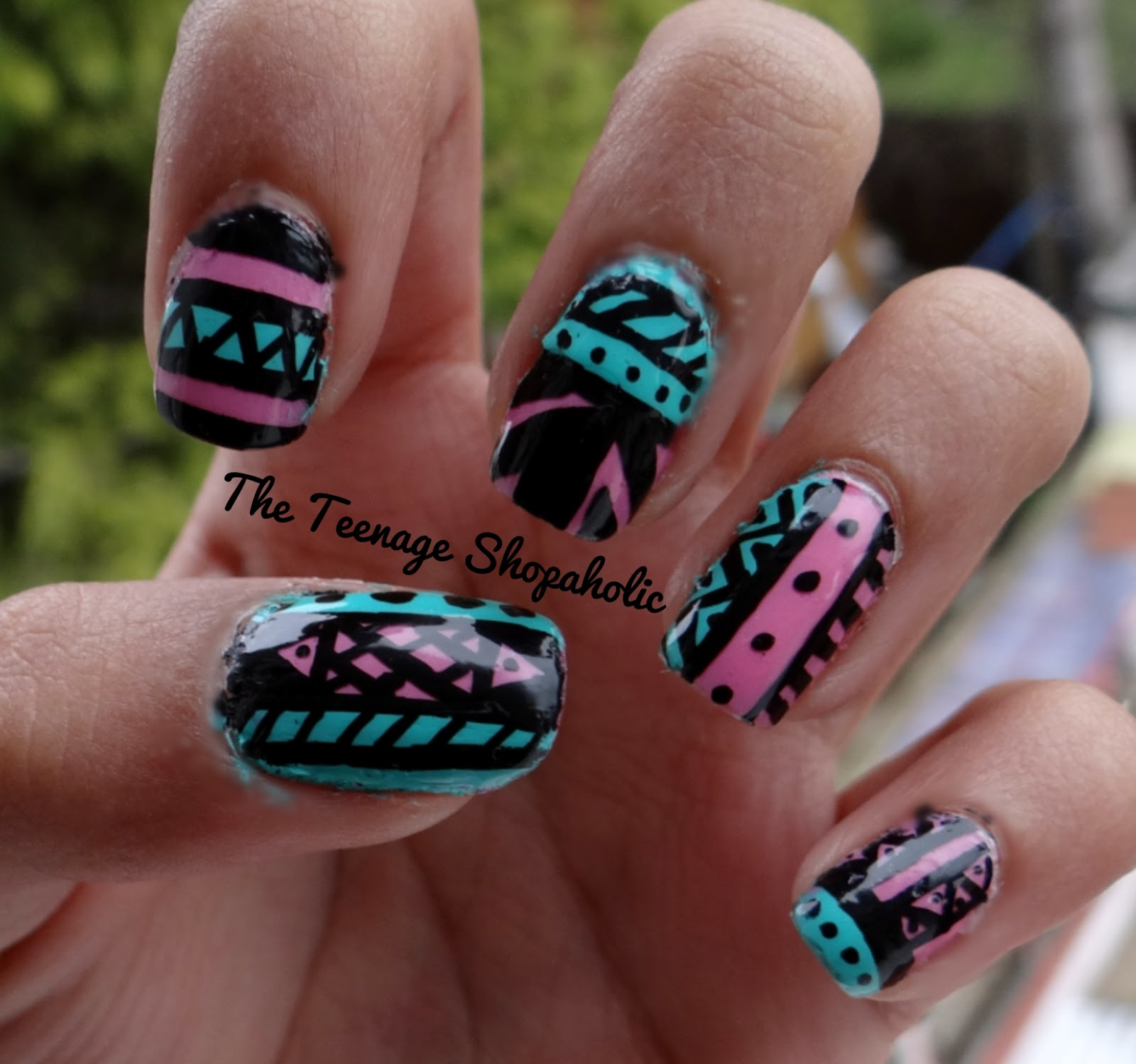 Easy tribal nail designs for beginners acrylic nails designs view images day nail art challenge tribal prinsesfo Gallery