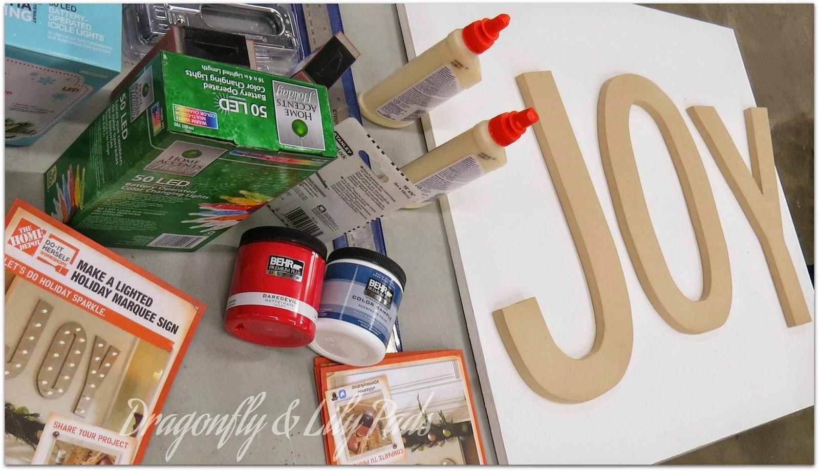 Letters, Joy, Home Depot Do It Herself Workshop, Directions, Wood Glue