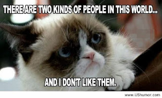 Funny cat sayings there are two kinds of people in this