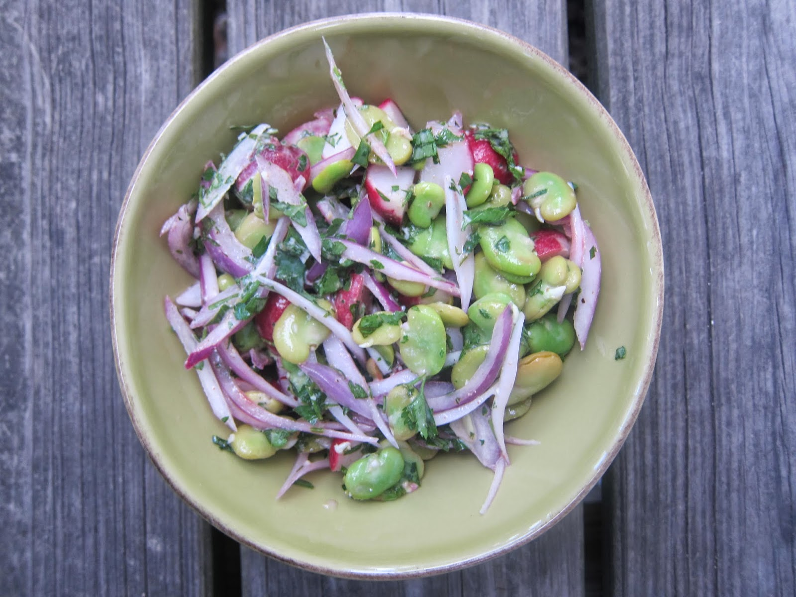 Radish and Fava Bean Salad | The Economical Eater