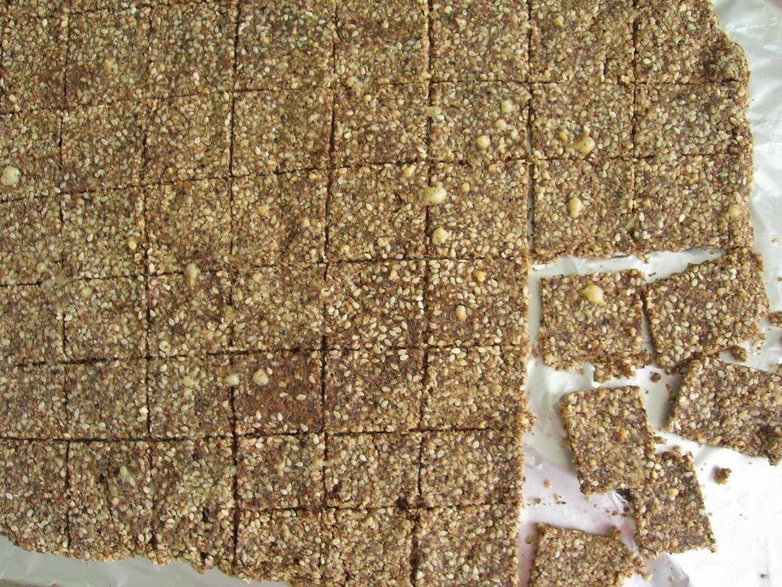 Gluten Free Sesame Pecan Crackers, grain free, low carb ...