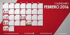 Toda la agenda de Febrero