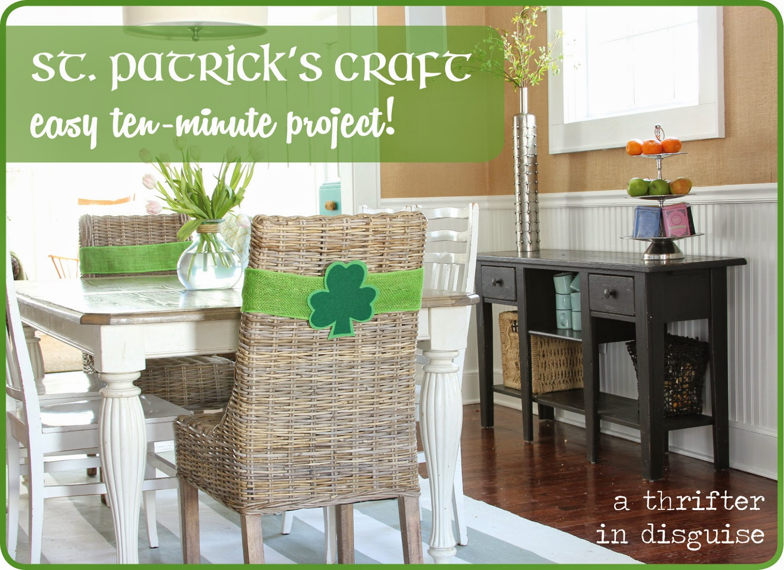 Tutorial for St. Patrick's Day Chair Decor