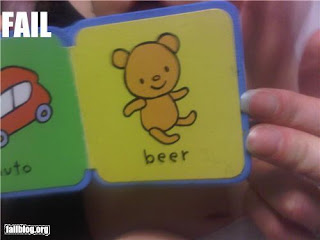 alcoholic bear in childrens' book