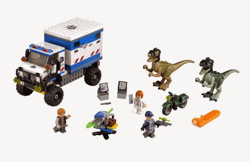 JUGUETES - LEGO Jurassic World  75917 Raptor Rampage | Alboroto Velociraptor Blue & Delta  Producto Oficial Película 2015 | Piezas: 324 | Edad: 6-12 años