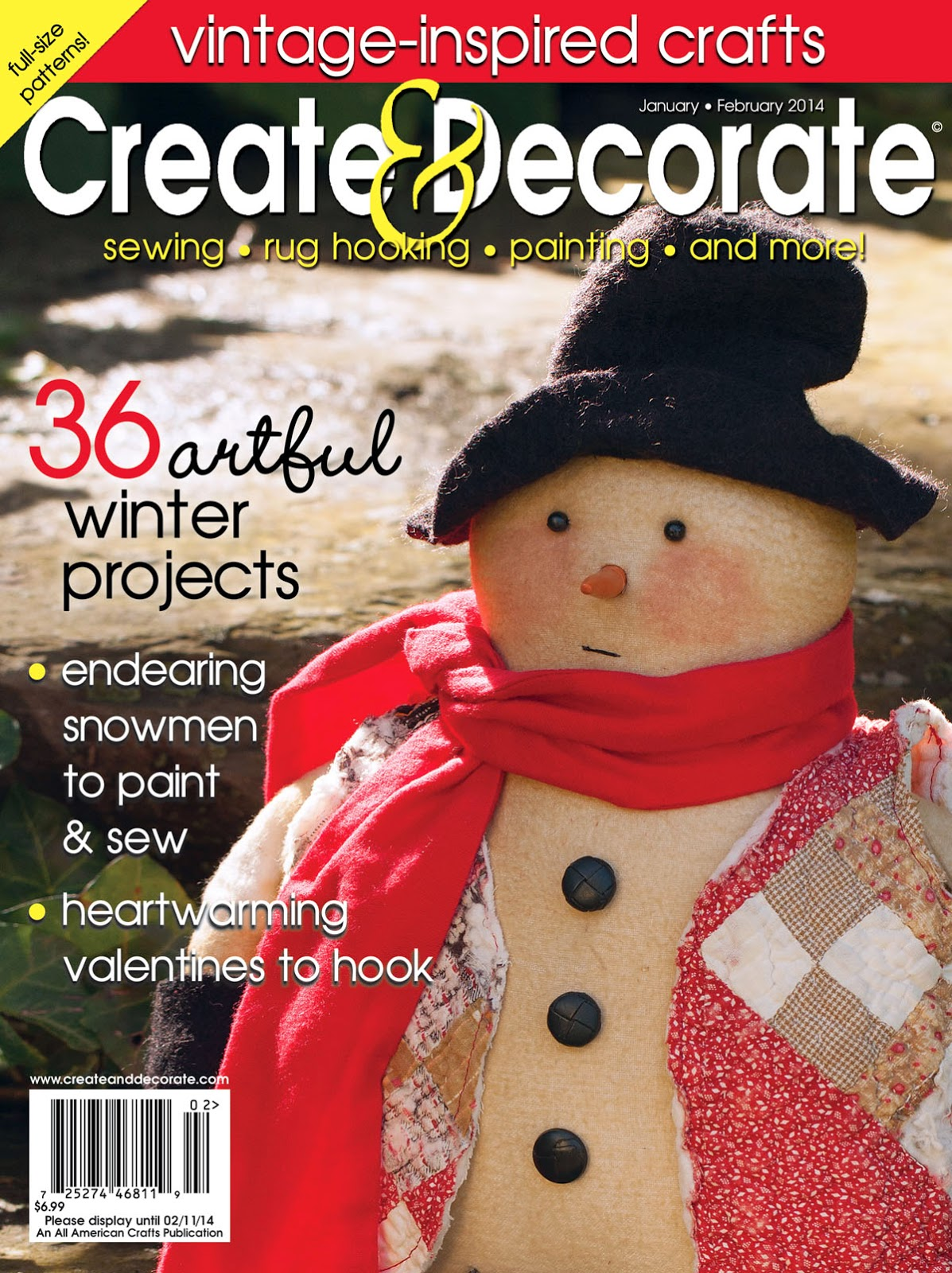 create decorate magazine article rubber stamped skinny