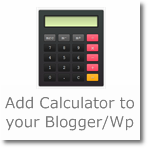 Add Calculator to your Blogger/Wordpress full functioning