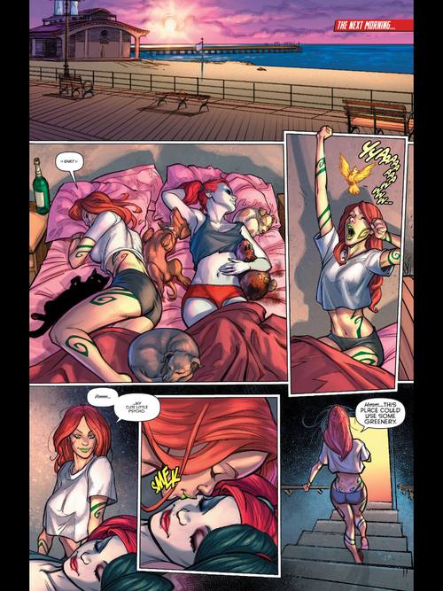 Poison Ivy And Harley Quinn Lesbian