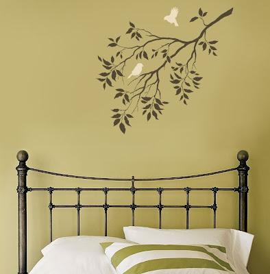 Menghias Ruangan Dengan Stencil Wall Art 1