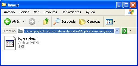 Configuración de layouts en Zend Framework