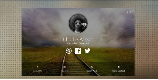 Profile One Page Joomla Template