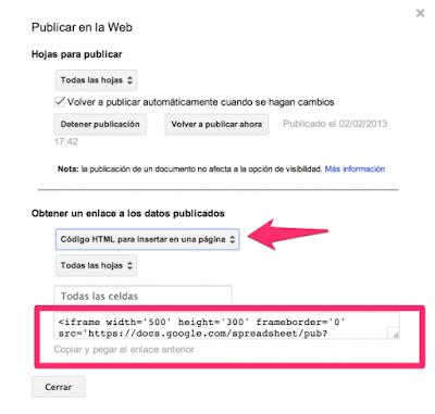 """Insertar en Web Documento de Google Drive5"""