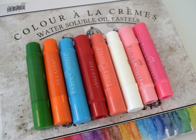 Prima Water Soluble Oil Pastel Faber Castell Gellatos Review and Comparison