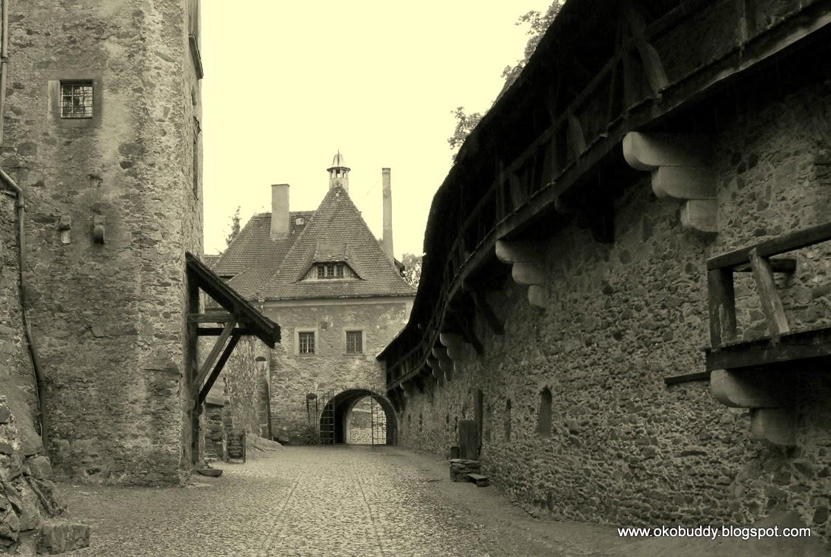 Zamek Czocha. wewnętrzny dziedziniec