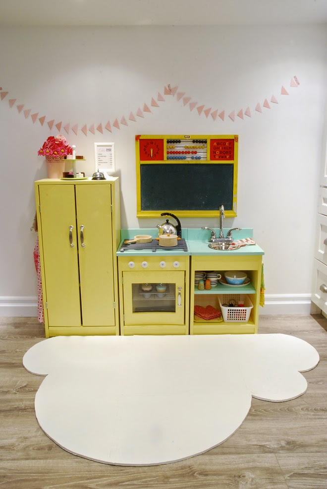 Rambling Renovators | play kitchen basement