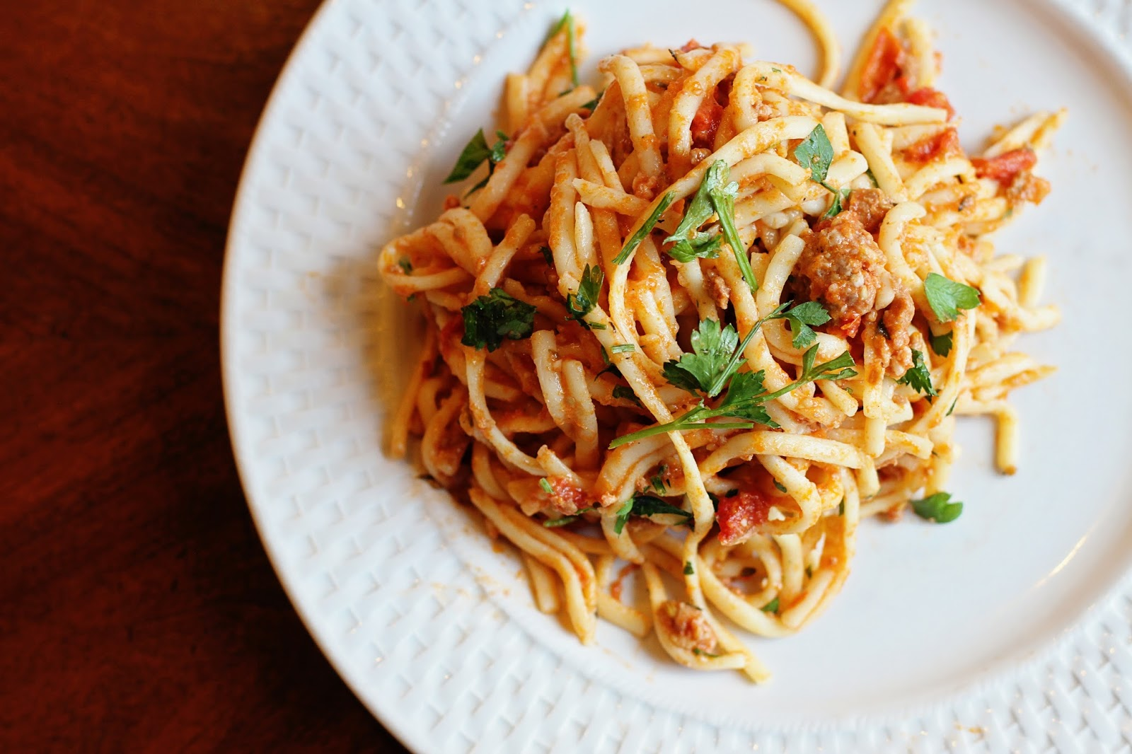 Running from the Law: Turkey Sausage Pasta with Cherry Tomatoes