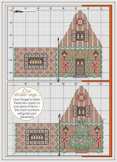 Имбирный дом схема вышивки 72