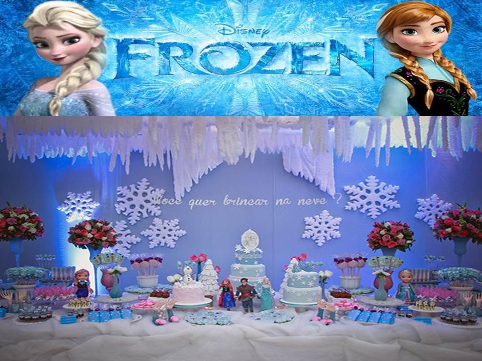 Artigos para festa infantil frozen