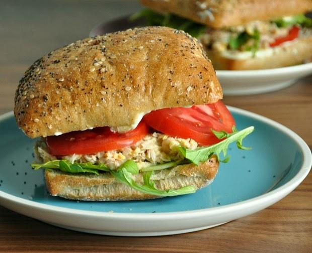 Chickpea Tuna Salad Sandwiches
