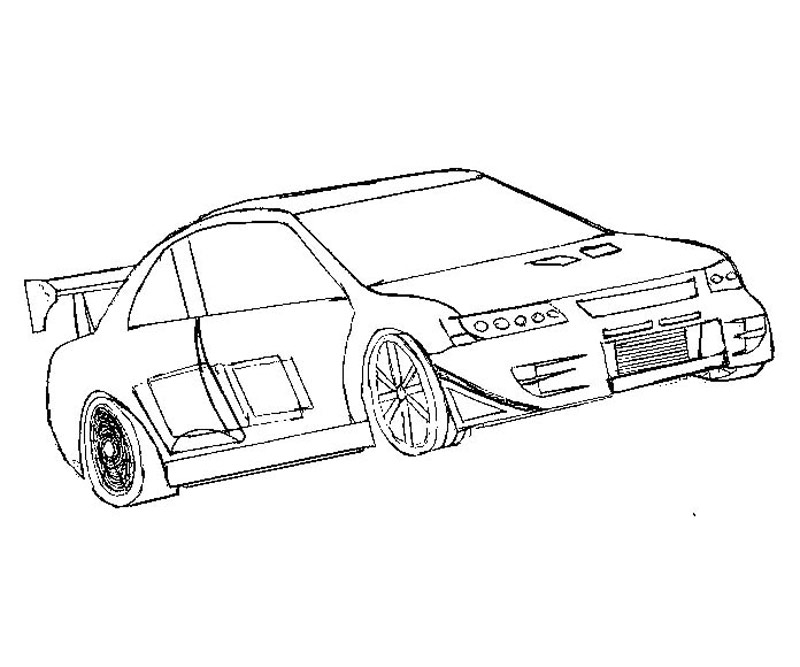 tokyo drift coloring pages