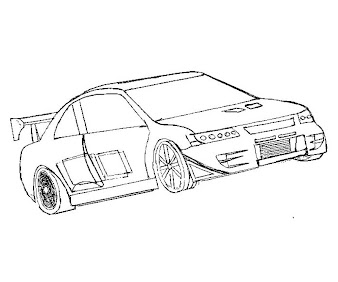 4 Fast and Furious Coloring Page