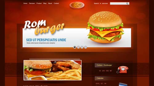 Create Romburger Web Design In Photoshop