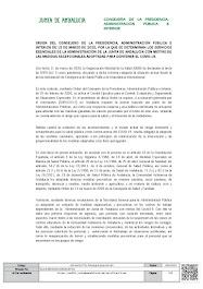ORDEN DEL CONSEJERO DE LA PRESIDENCIA, ADMINISTRACIÓN PÚBLICA E INTERIOR DE 15 DE MARZO DE 2020, PO