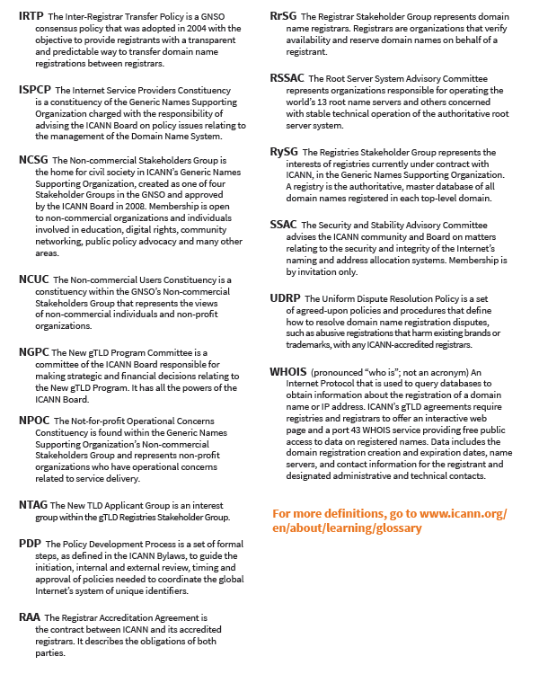 ICANN acronyms p.2