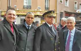 Avec Claude Bartolone et le Préfet Lambert