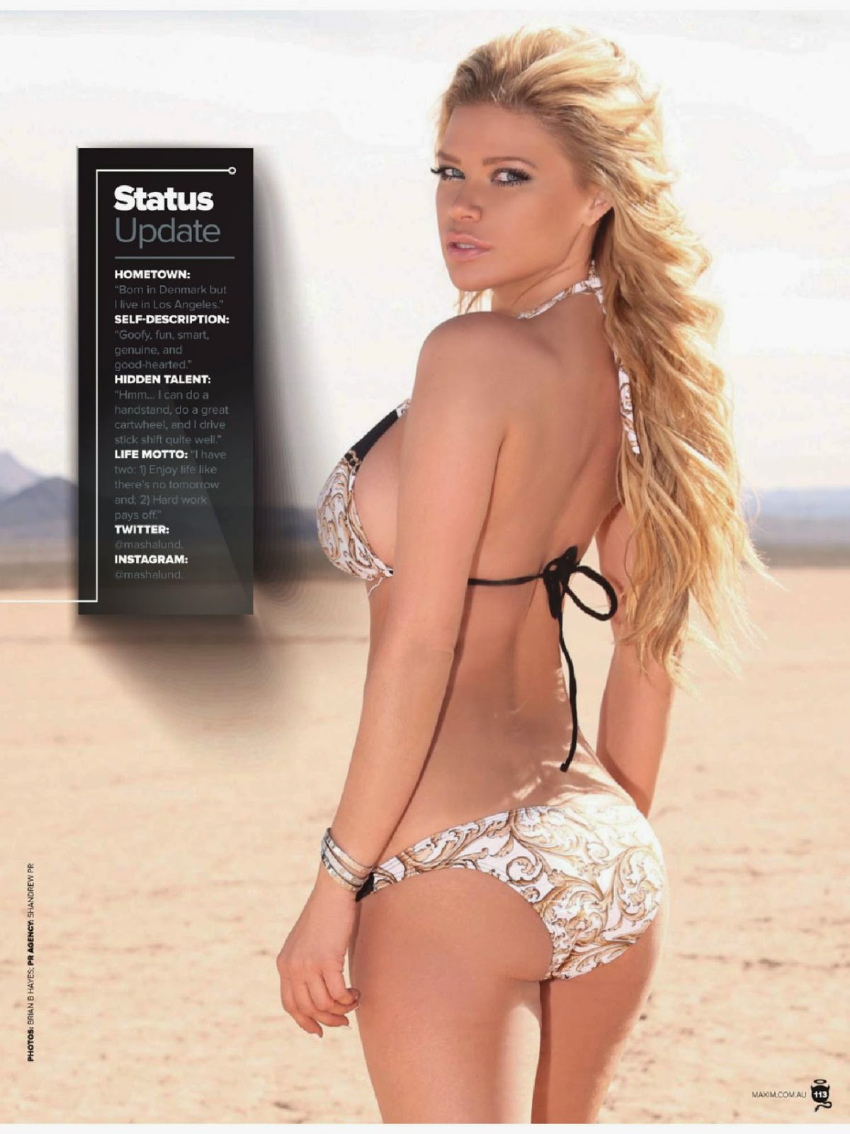 Masha Lund for Maxim Magazine, Australia, June 2014
