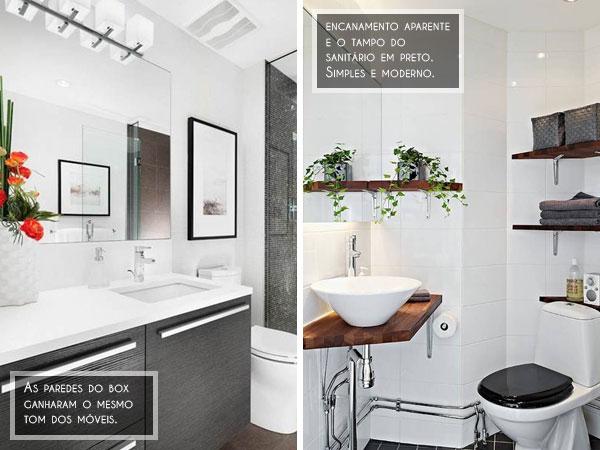Ambientes pequenos Banheiro social 35 Inspirações para decorar o seu! -> Decorar Banheiro Social
