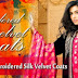 Gul Ahmed Embroidered Silk Velvet Coats 2014-2015-Gul Ahmed Latest Style Long Coats Winter 2014 For Women-Girls-Mens