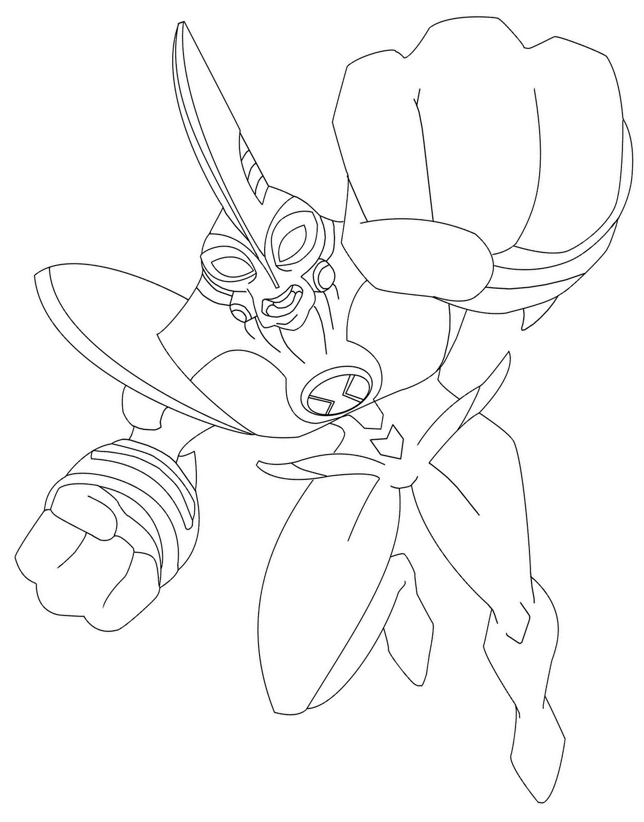 ben 10 lodestar coloring pages - photo#3