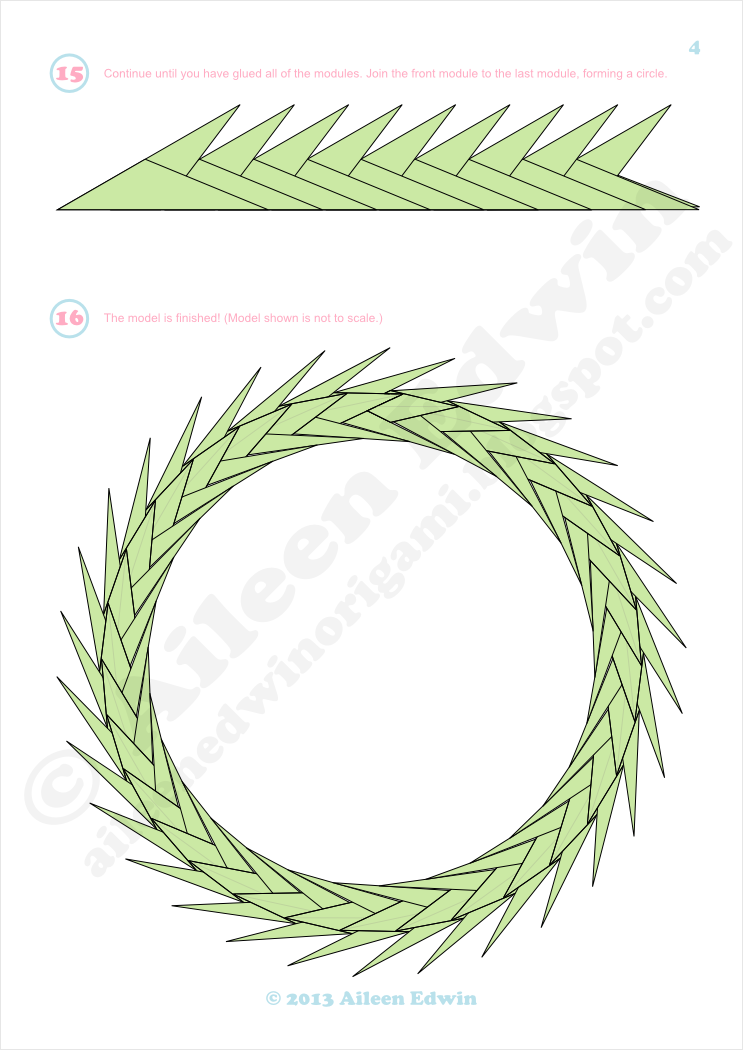 Modular Origami Wreath Diagrams (Aileen Edwin)