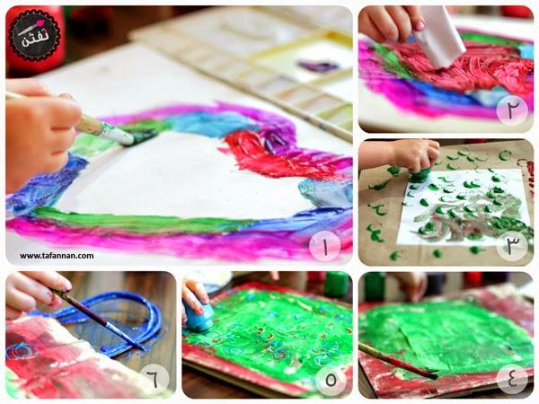 مراحل نشاطنا في تلوين الكيس البني وكيفية التعامل مع فن الطفل