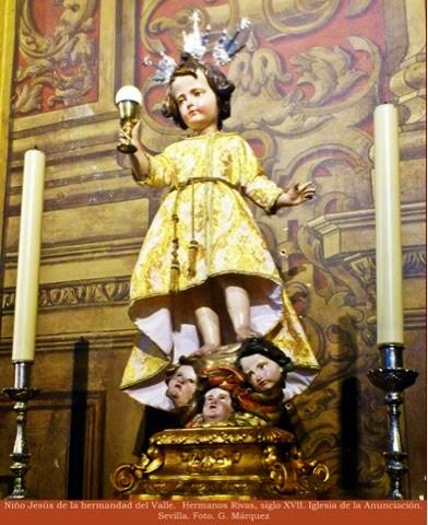 Niño Jesús de la hermandad del Valle.  Hermanos Rivas, siglo XVII. Iglesia de la Anunciación. Sevilla. Foto. G. Márquez