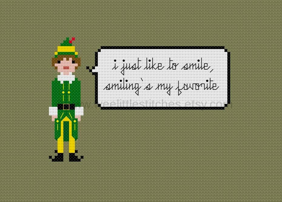 Weelittlestitches Free Buddy The Elf Pixel Person Patterns A