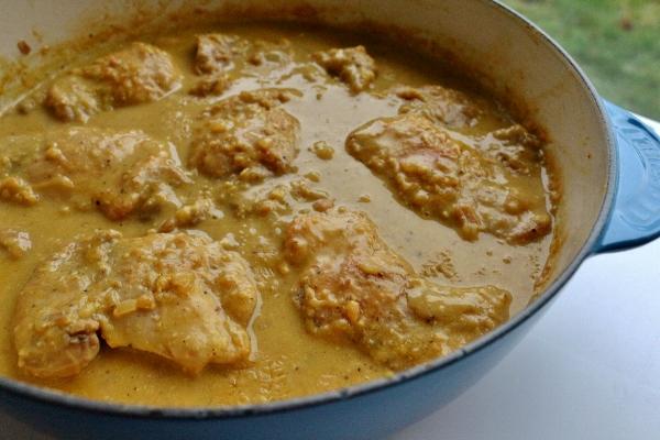 Mission: Food: Chicken Braised in Saffron, Almond, and Egg Yolk Sauce ...