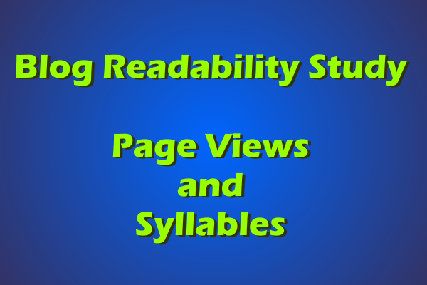 Page Views and Syllables, A Comparison